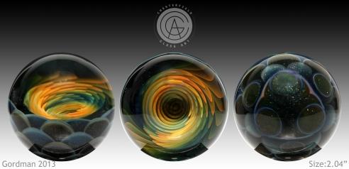 Fumed Vortex Marble