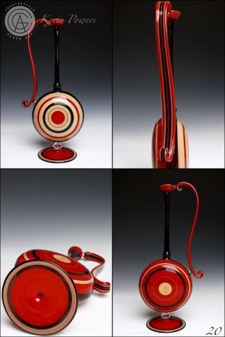Red Brown Vase