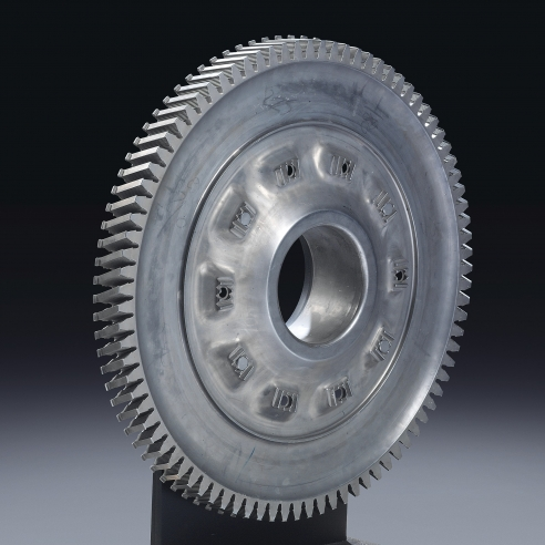 A high pressure turbine disc from a Concorde engine