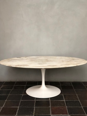 Eero Saarinen Arabescato Marble Top Coffee Table c.1950s