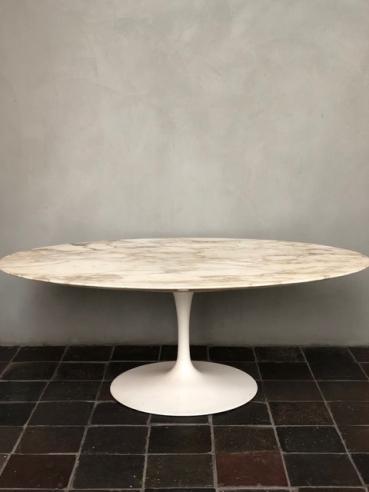 Eero Saarinen Arabescato Marble Top Coffee Table c.1950s