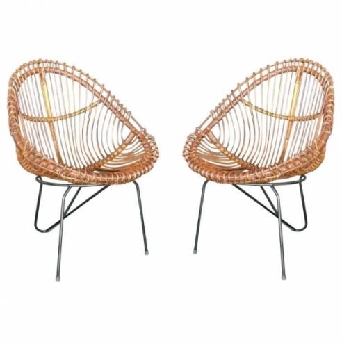 1950's Italian Rattan Chairs