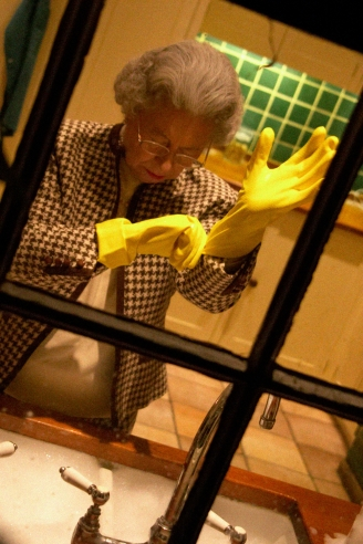The Queen Tries on Marigolds