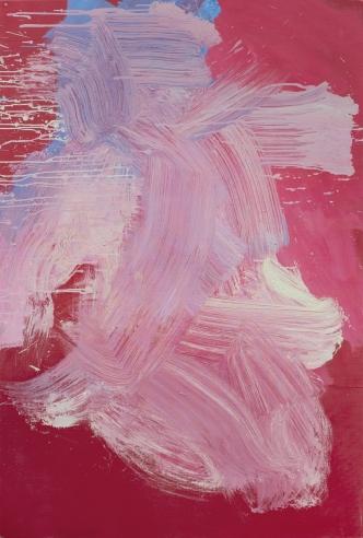 "68.5"" x 46"" Acrylic and Pencil on Canvas"