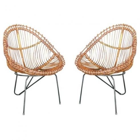 1950s Italian Rattan Chairs