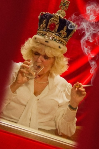 Camilla Tries on the Crown