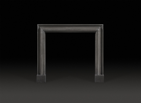 Bolection Black Marble Fireplace Mantel