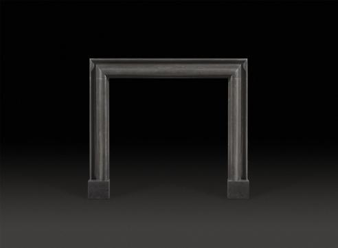Bolection Black Marble Fireplace Mantel