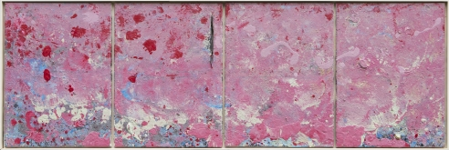 """74.5"""" x 25"""" Acrylic on Canvas"""