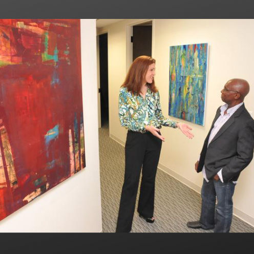 Need Art in the Workplace? Art Village Gallery offers lease-to-buy option