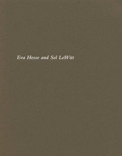 Eva Hesse and Sol LeWitt
