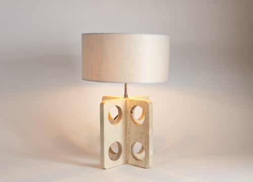 Pair of X-Shaped Table Lamps