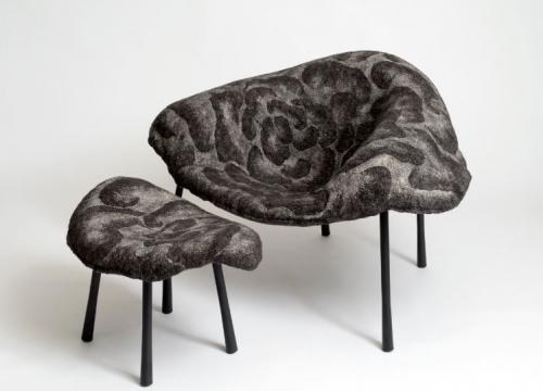 Armchair & ottoman