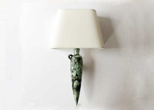green amphora sconce blin