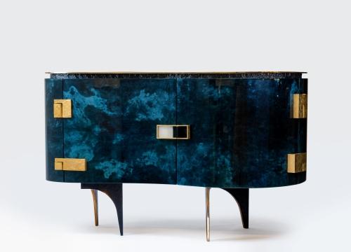 Silk Parchment Cabinet