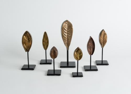 Selection of Bronze Leaf Sculptures