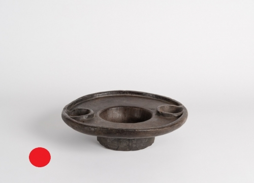 Footed Circular Bowl with a Large Platform Lip