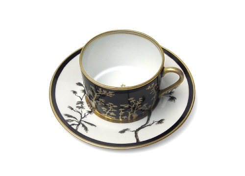 the cup and dish