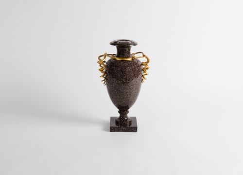 Urn with Flared Rim on a Square Base