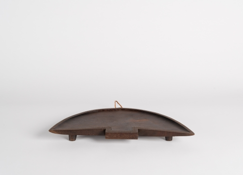 Half-Moon Platter with Incised Edges