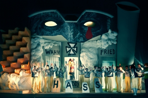 First performance of ParZeFool / MONDPARSIFAL BETA 9-23 by Jonathan Meese and Bernard Lang at the Berliner Festspiele