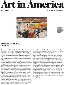 Robert Baribeau Reviewed in Art in America, December 2013