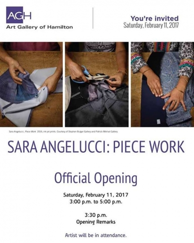 SARA ANGELLUCI @ ART GALLERY OF HAMILTON