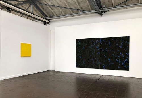 """""""The Shape of Things - LaBute Doppelgänger"""", installation view 3x12m, Oil and pigments on canvas"""