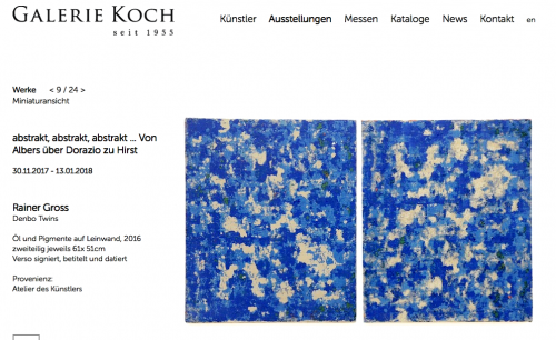 """abstract - abstract - abstract"" Galerie Koch Hannover, Germany"