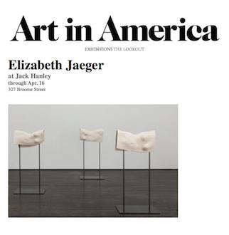 Elizabeth Jaeger in Art in America