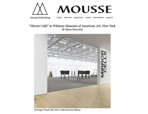 Elizabeth Jaeger in Mousse Magazine