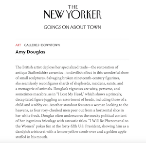 Amy Douglas in The New Yorker