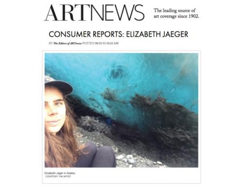 Elizabeth Jaeger in Art News