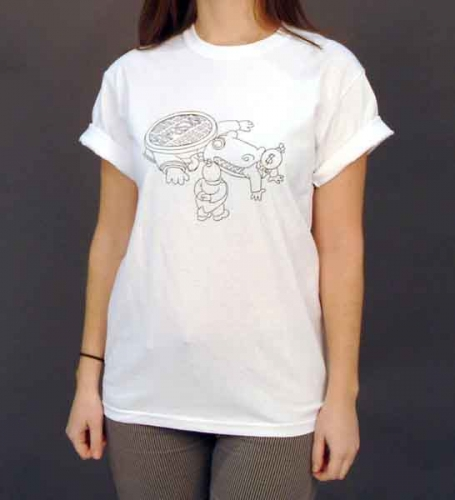 Alligator High Unisex White T-Shirt
