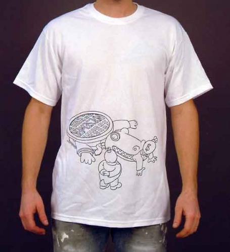 Alligator Low Unisex White T-Shirt