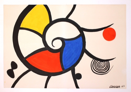 "Alexander Calder_Untitled, 1967 (29"" x 42 1:2"") - Casterline