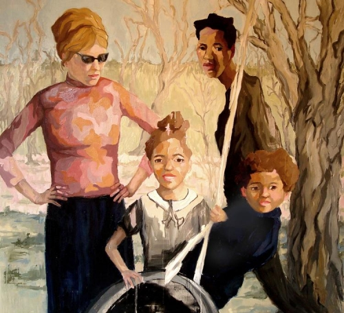 Artist Ruth Owens reflects on racial, cultural meanings of phrase 'good family' in her paintings