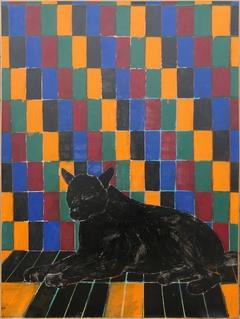Joan Brown, Wolf in Room, 1974.
