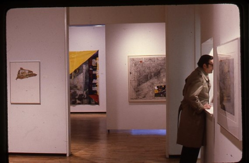 Critic Ted Wolff at the gallery 1981
