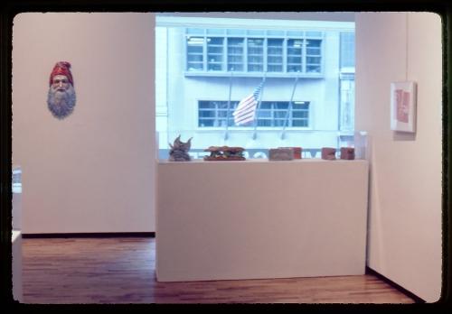 Installation view of new ceramic sculpture by Robert Arneson