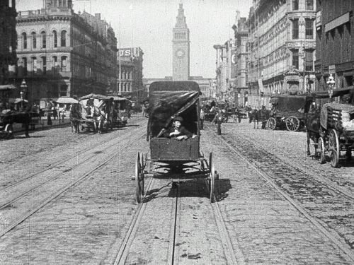 The Miles Brothers: still from A Trip Down Market Street, 1906; 12 mins.