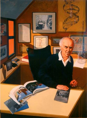 Jack Beal, Portrait of Dr. James Watson, 1994-95