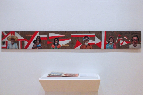 Installation view of 'Califas: Art of the U.S.-Mexico Borderlands,' 2018, at the Richmond Art Center, Richmond, California.
