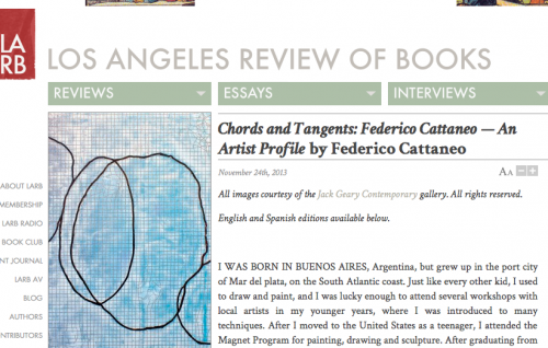 Los Angeles Review of Books: Chords and Tangents: Federico Cattaneo — An Artist Profile