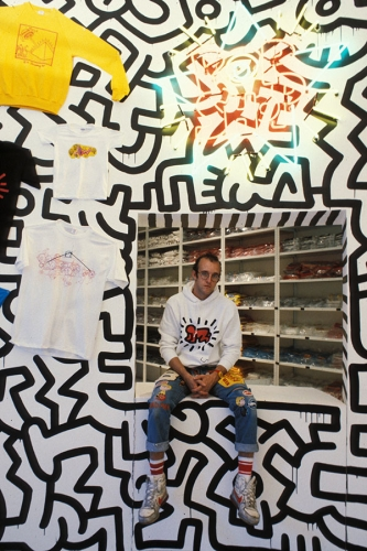 Keith Haring Pop Shop Mural Fragment