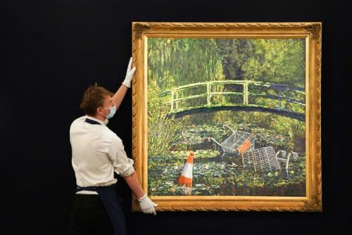 CNN ARTS   Banksy Show me the Monet