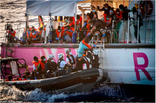 New York Times   Banksy Rescue Refugees From the Mediterranean