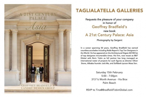 "Taglialatella Galleries Palm Beach Hosts Reception in Honor of Geoffrey Bradfield's ""A 21st Century Palace: Asia"""