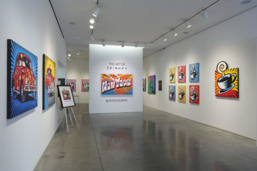The Art of Friends by Burton Morris, exhibit at Taglialatella Galleries, New York.