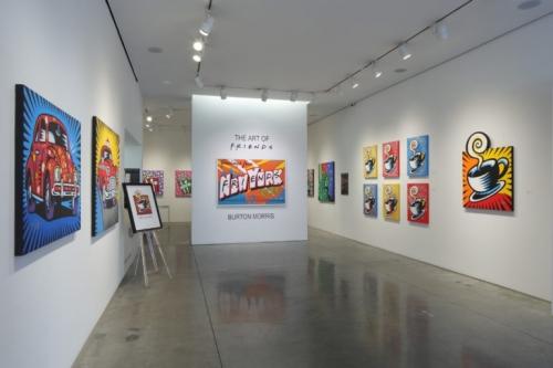 The Art of Friends by Burton Morris, exhibit at Taglialatella Galleries, New York.